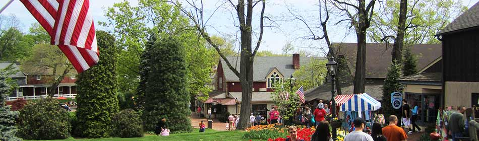 Peddler's Village is a 42-acre, outdoor shopping mall featuring 65 retail shops and merchants, 3 restaurants, a 71 room hotel and a Family Entertainment Center. in the Hatboro, Montgomery County PA area